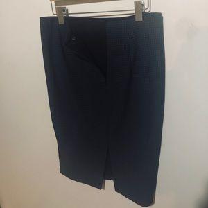Woman's black & blue checker Skirt sz/4